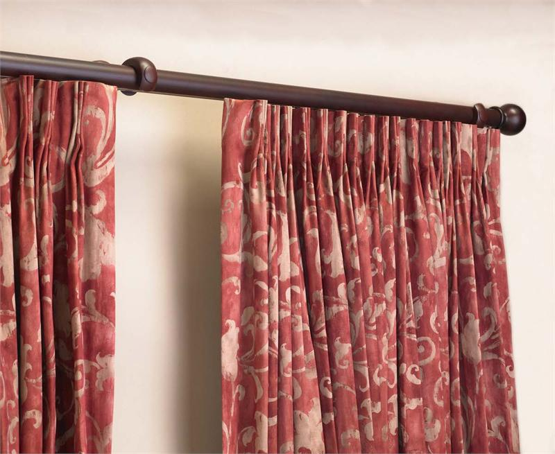 Image of: Double Traverse Curtain Rod Modern