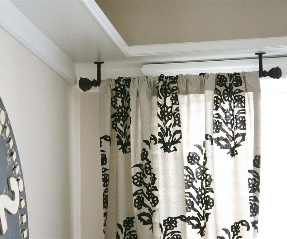 Image of: Double Traverse Curtain Rod Pole