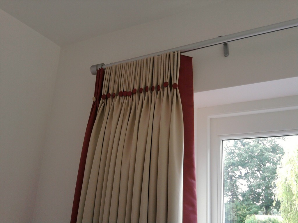 Image of: Double Traverse Curtain Rod Small