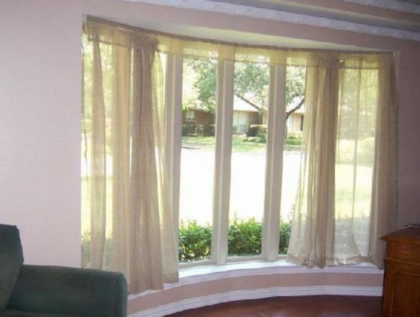 Image of: Double Traverse Curtain Rod Windows