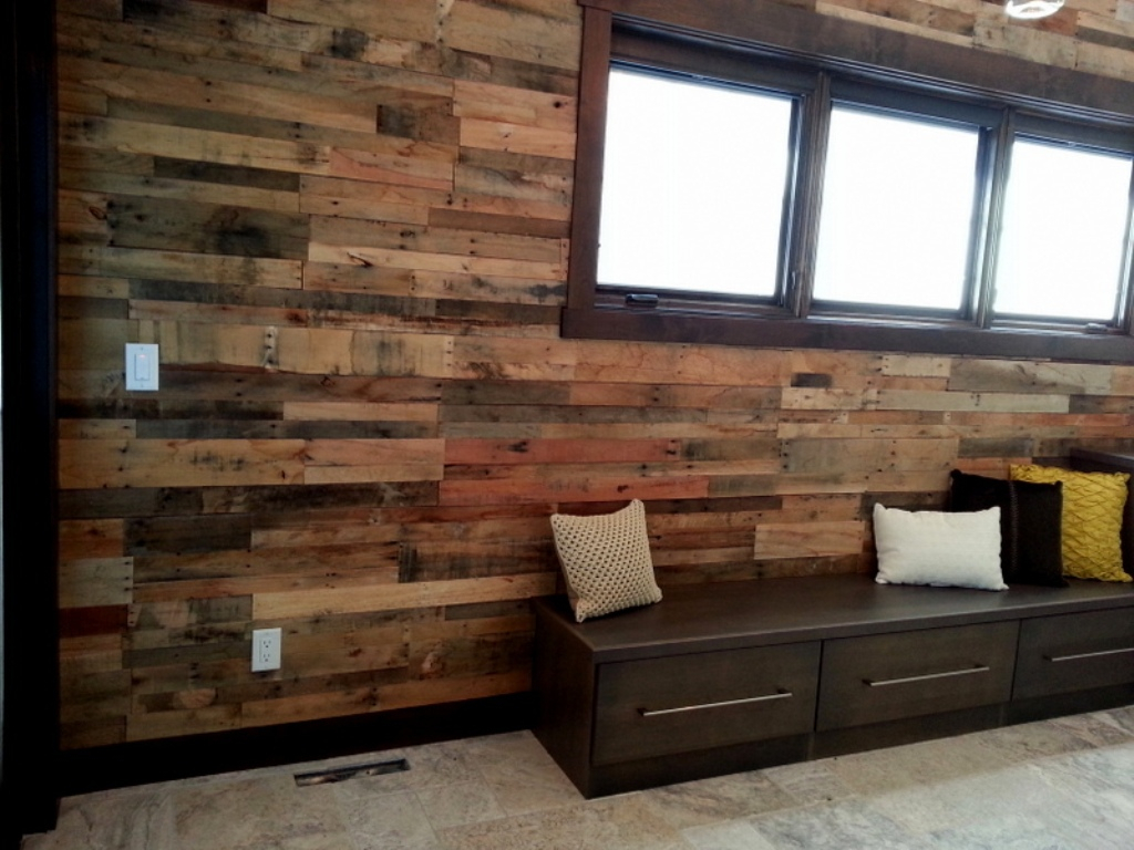 Image of: Faux Reclaimed Wood Wall Panels