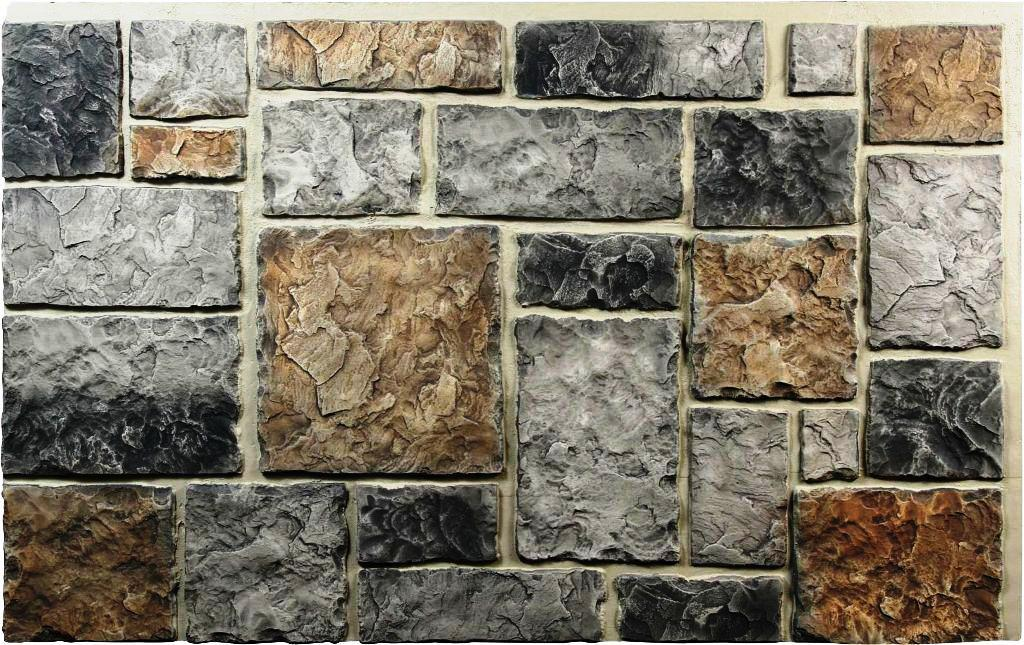 Image of: Faux Stone Wall Panels Design