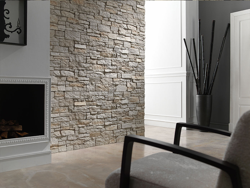 Image of: Faux Stone Wall Panels Ideas
