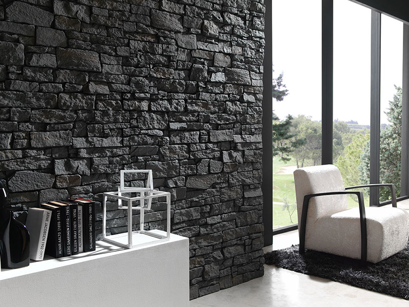 Image of: Faux Wall Panels Dark