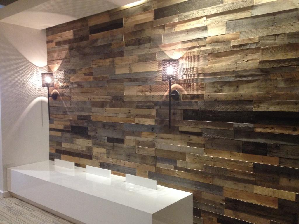 Faux Wall Panels and Lamps