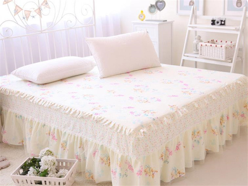 Image of: Fitted Bed Skirt Floral