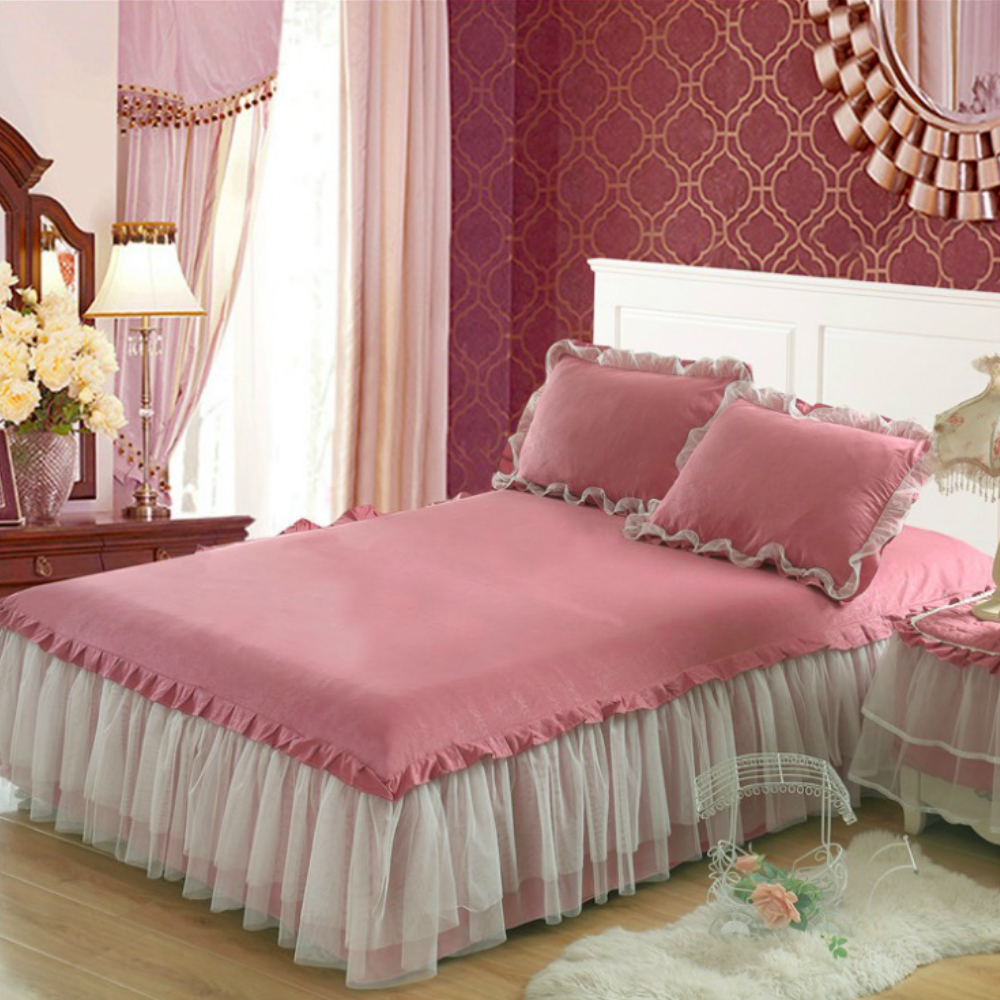 Image of: Fitted Bed Skirt Lace