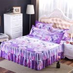 Fitted Bed Skirt Purple