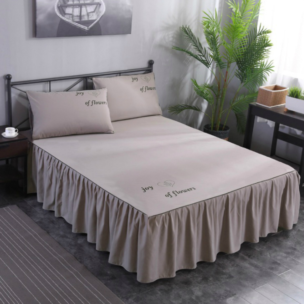 Image of: Fitted Bed Skirt Ruffle