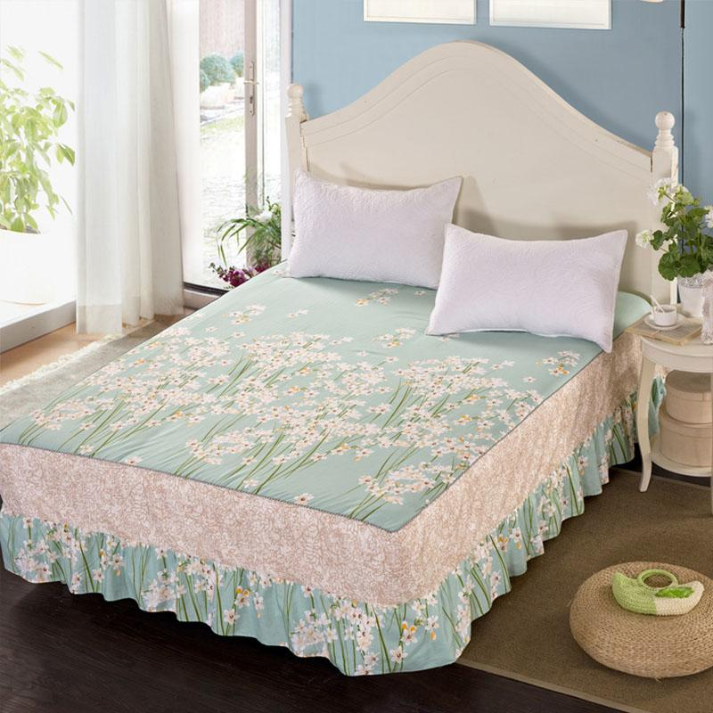 Image of: Fitted Bed Skirt Theme