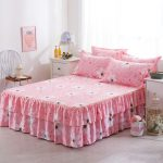 Fitted Bed Skirt in Pink