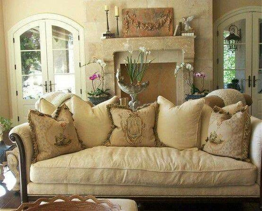 Image of: French Country Living Room Ideas Cozy