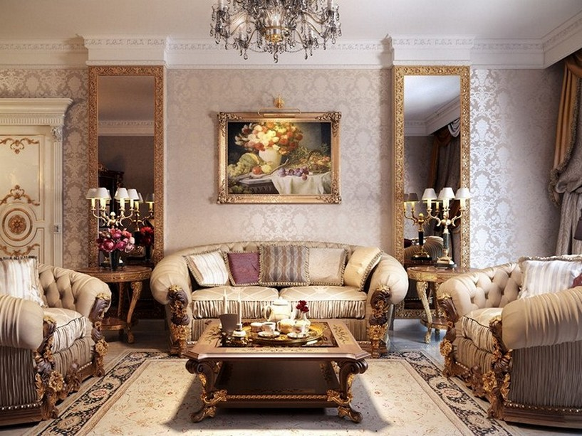 Image of: French Country Living Room Ideas Elegant