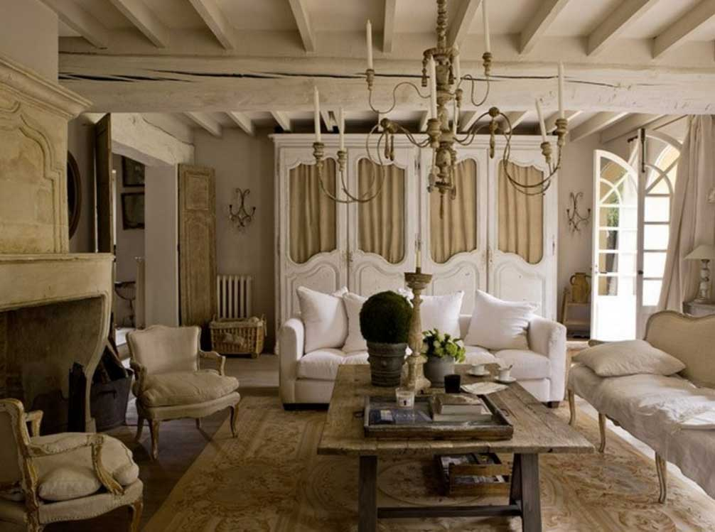 Image of: French Country Living Room Ideas Modern