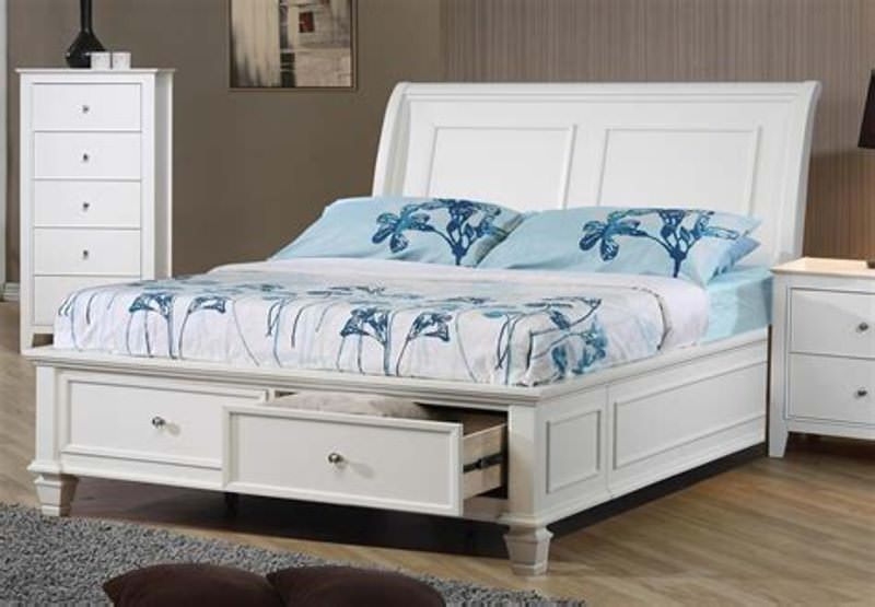 Image of: Full Bed Frame With Storage