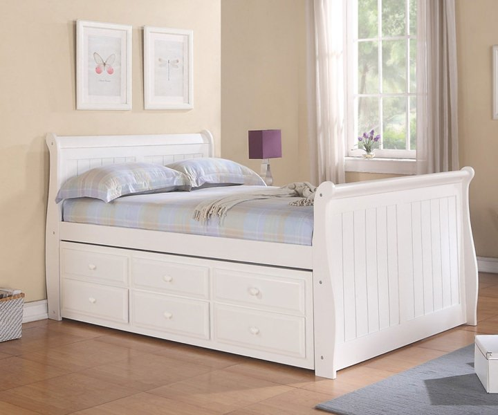 Image of: Full Size Bed Frame With Storage