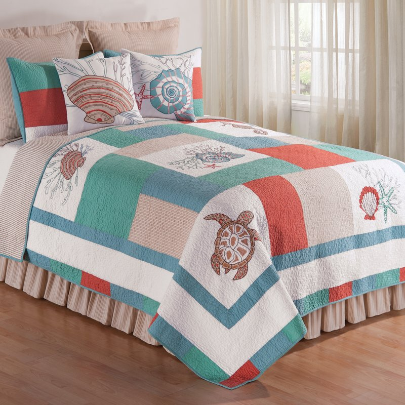 Image of: Girls Striped Bed Skirt