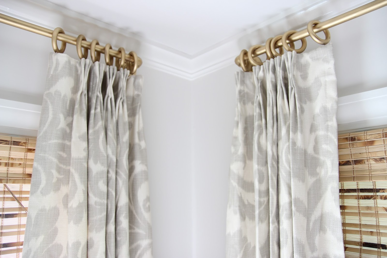 Image of: Gold Curtain Rod Awesome