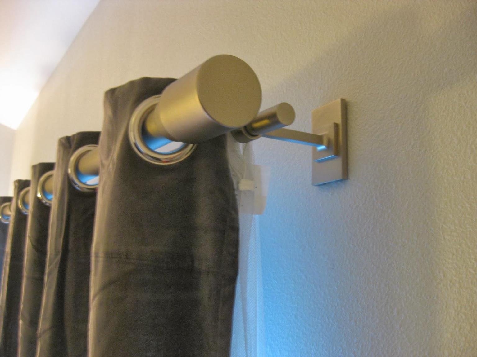 Image of: Gold Curtain Rod Double