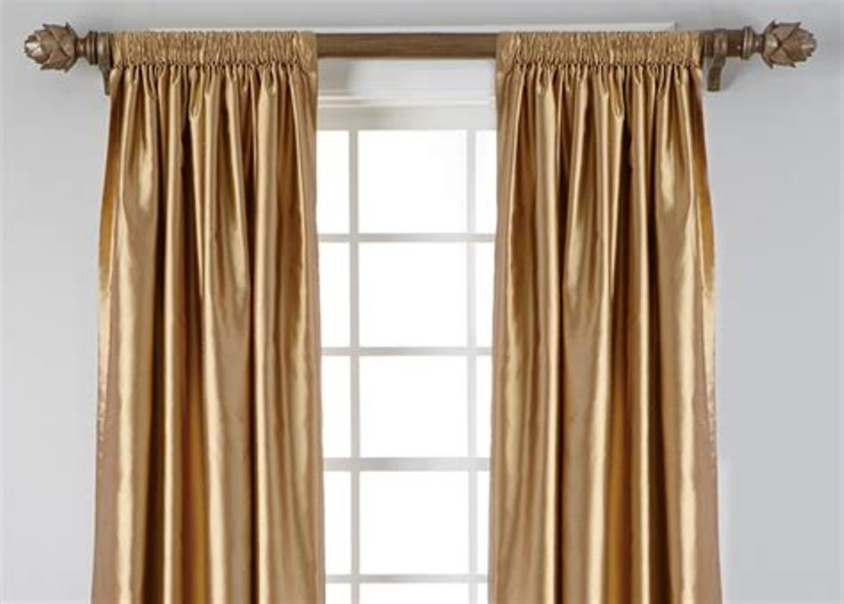 Image of: Gold Curtain Rod Modern