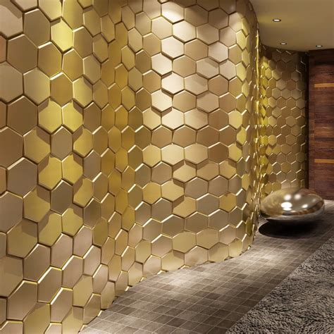 Image of: Gold Peel and Stick Wall Panels