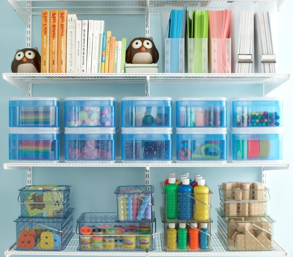 Image of: Gray Art Supply Storage Ideas