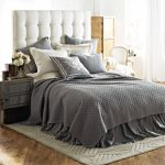 Gray Bed Skirt Set
