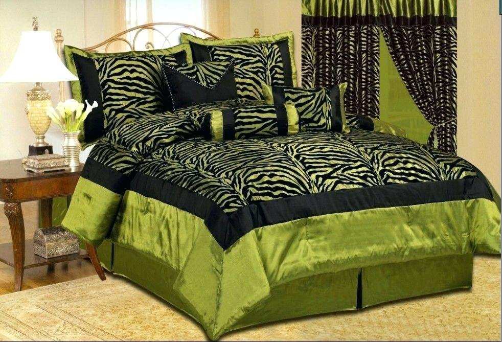 Image of: Green Bed Skirt Fabric