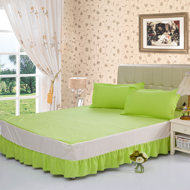 Image of: Green Bed Skirt Idea