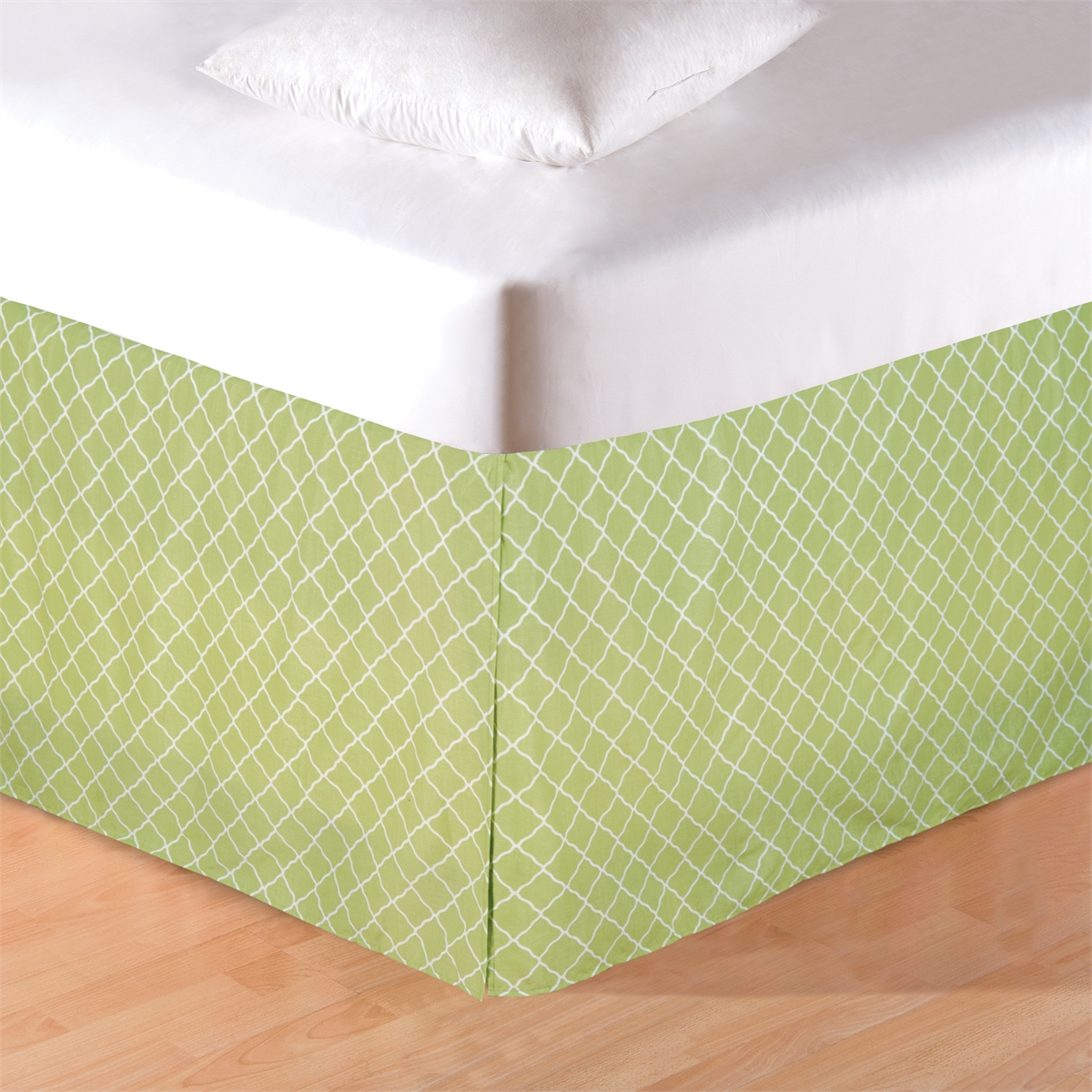 Image of: Green Bed Skirt Pattern