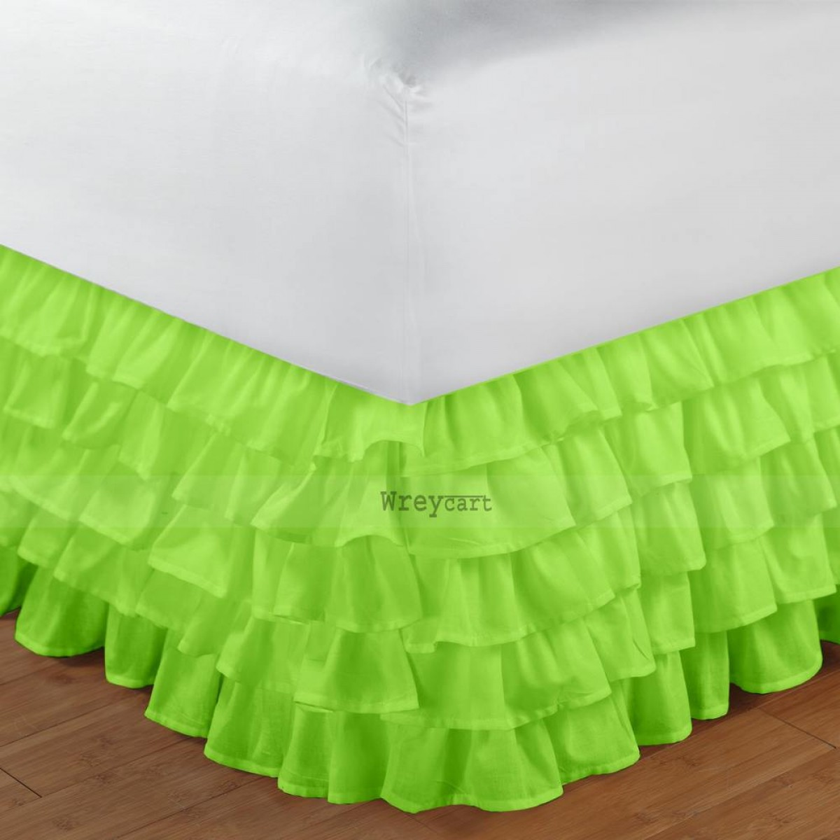 Image of: Green Bed Skirt Ruffle
