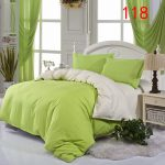 Green Bed Skirt and Curtain