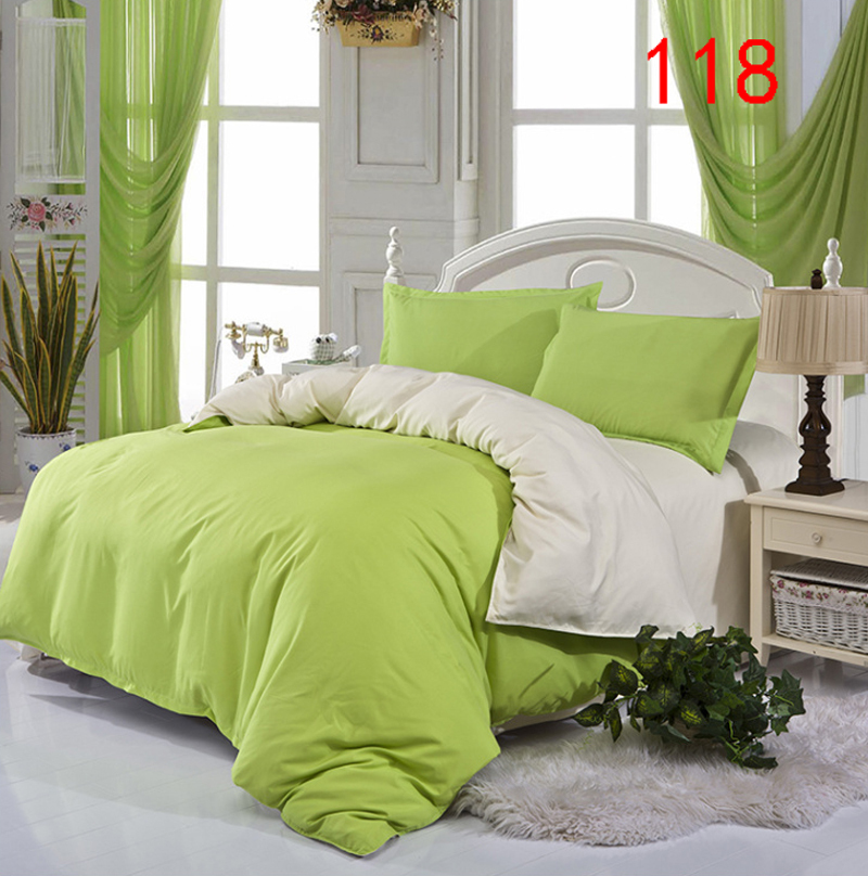 Image of: Green Bed Skirt and Curtain