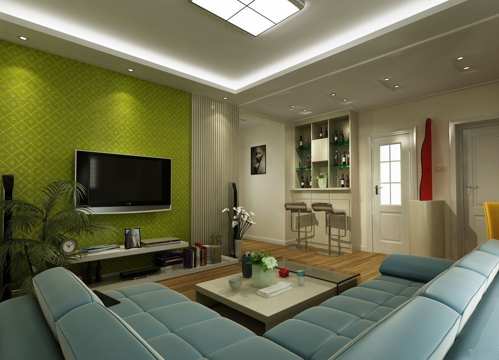 Image of: Green Living Room Walls Awesome