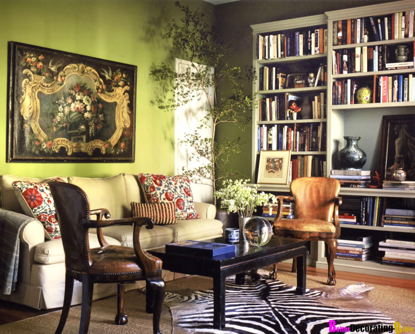 Image of: Green Living Room Walls Bamboo