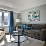Grey and Brown Living Room Blue