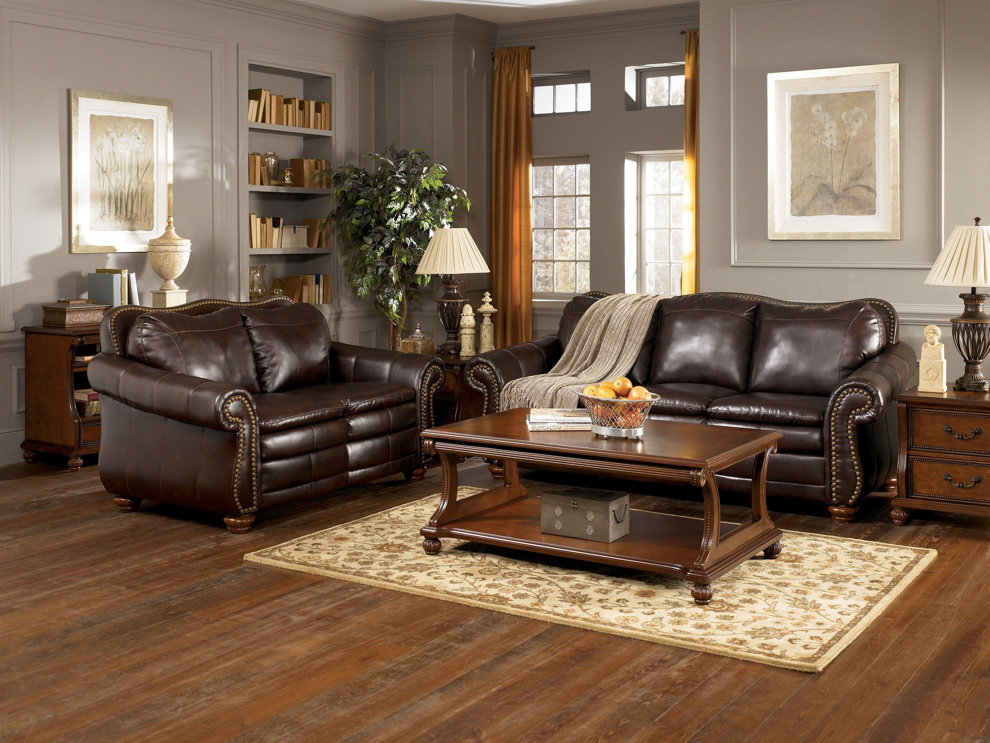 Image of: Grey and Brown Living Room Elegant