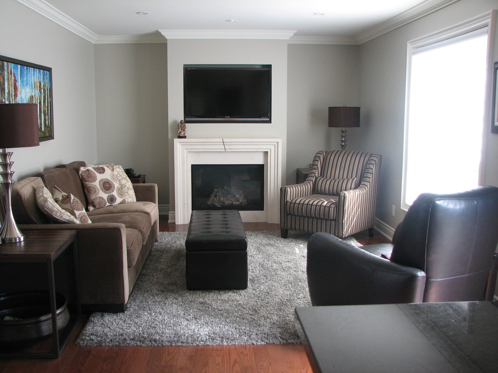 Image of: Grey and Brown Living Room Furniture