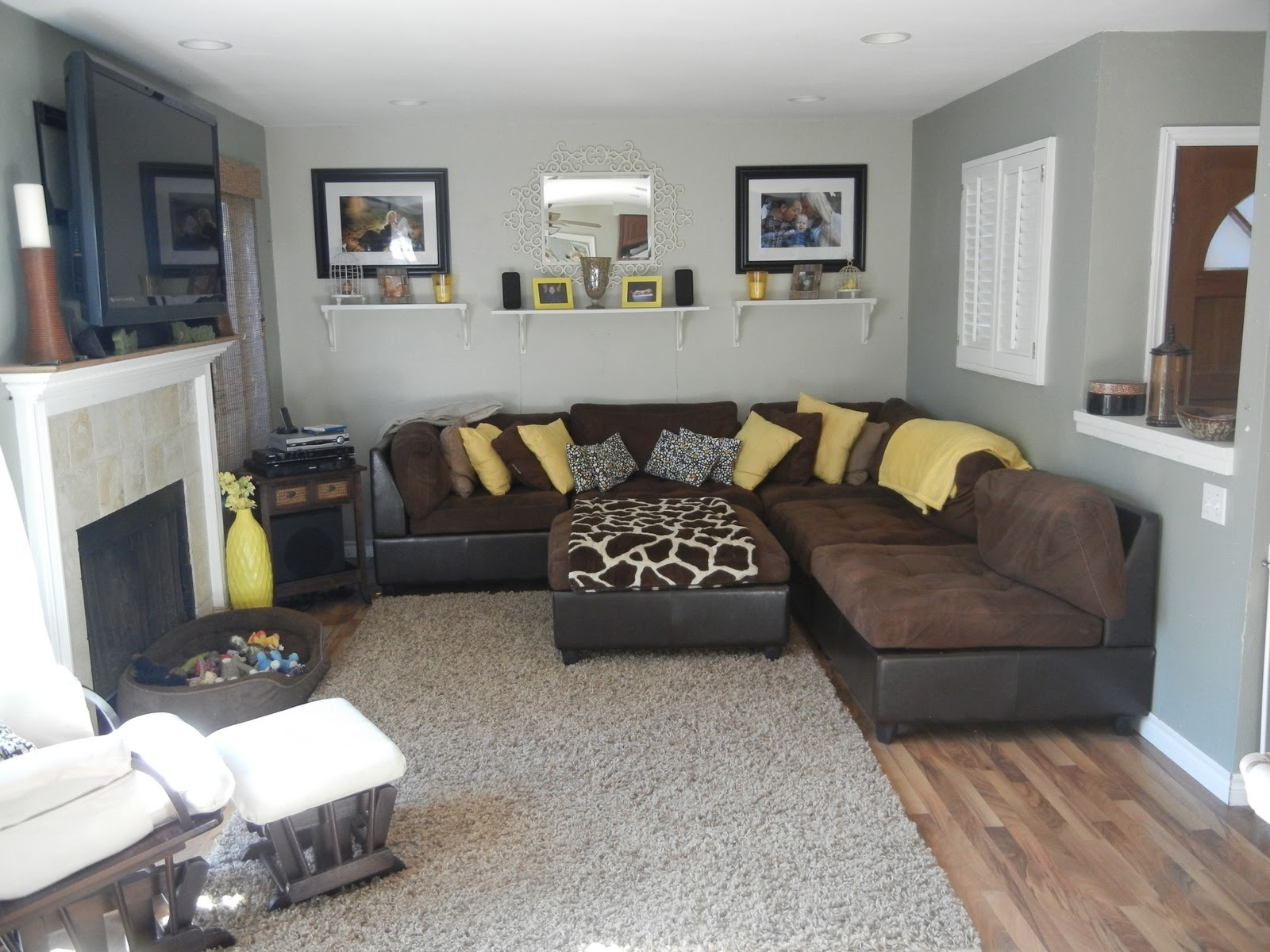 Image of: Grey and Brown Living Room Futuristic