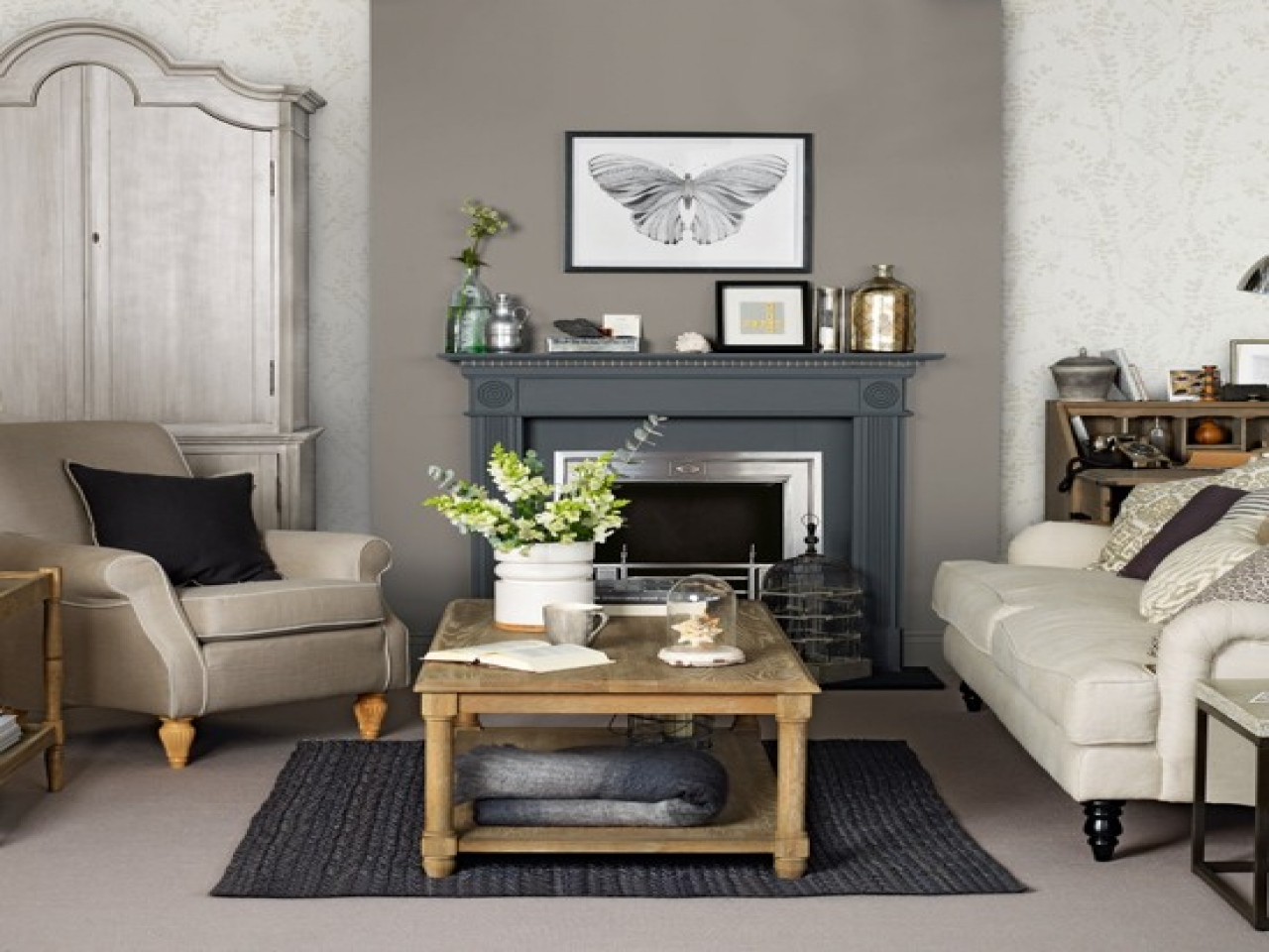 Image of: Grey and Brown Living Room Simple