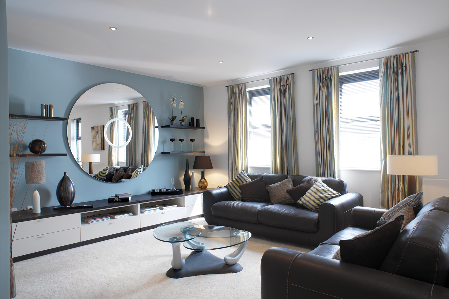 Image of: Grey and Brown Living Room Small