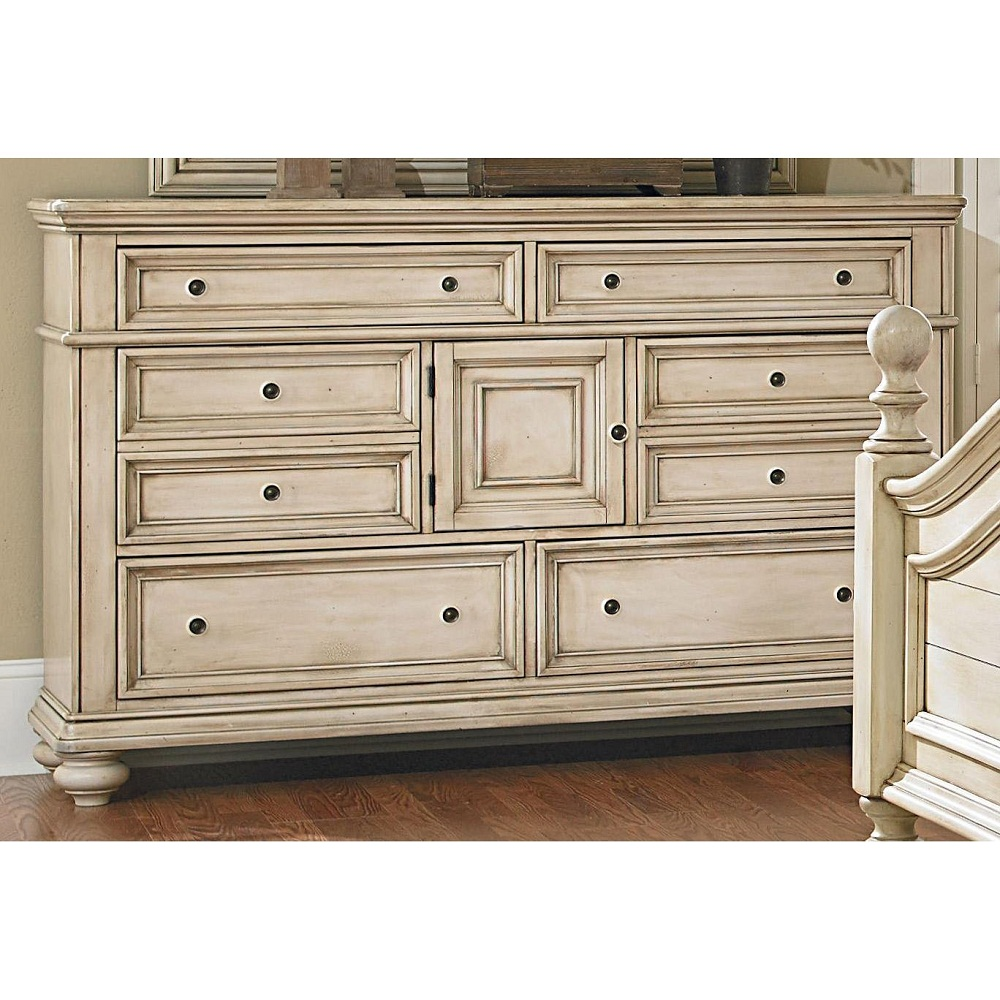 Image of: Heritage Antique White Dresser