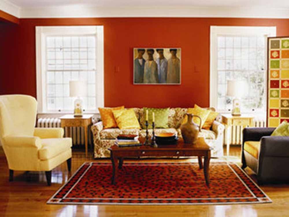Image of: Ideas For Living Room Red