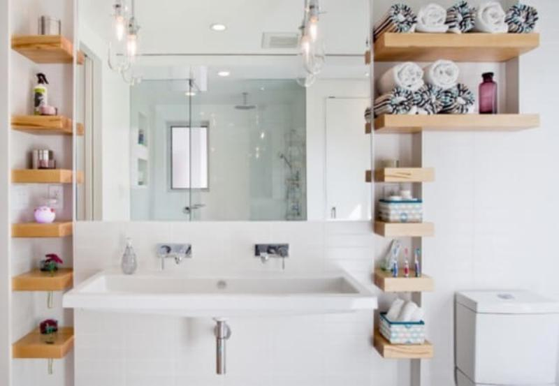 Image of: Ideas For Storage For Small Bathroom