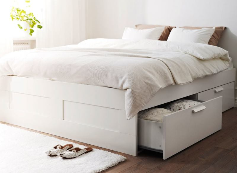Image of: Ikea Bed Frame With Storage