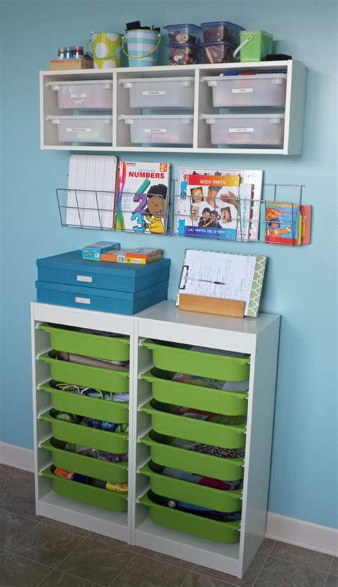 Image of: Interest Art Supply Storage Ideas