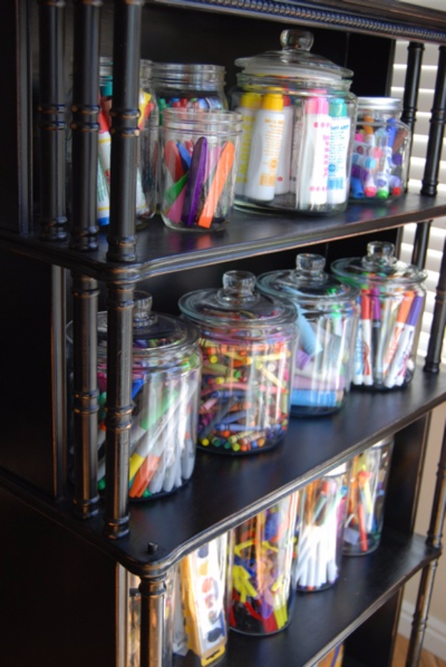 Image of: Jar Art Supply Storage Ideas