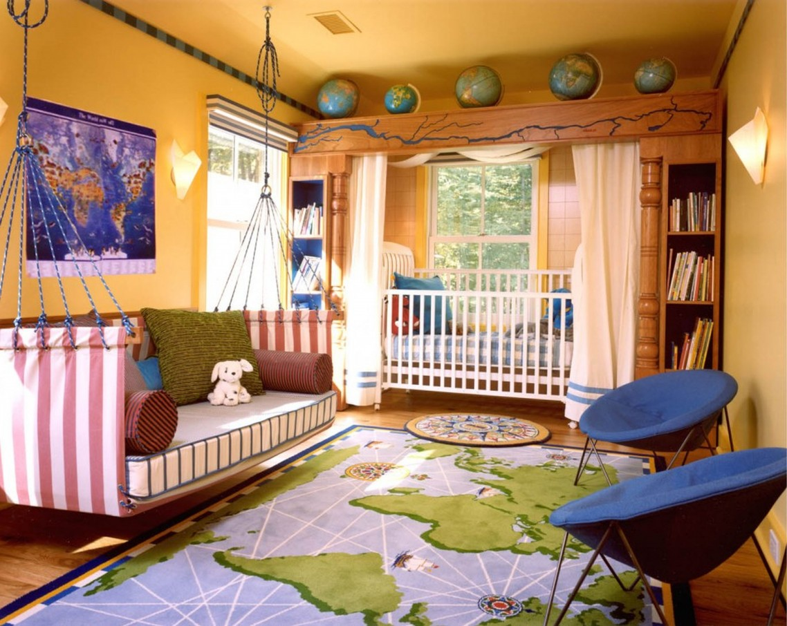 Image of: Kid Bedroom Curtain Light