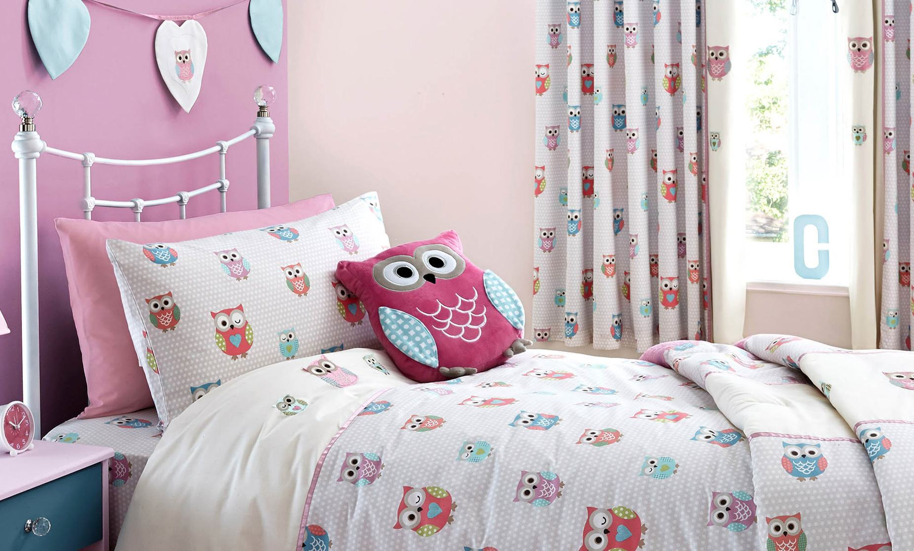 Image of: Kid Bedroom Curtain Owl
