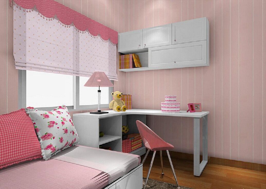 Image of: Kid Bedroom Curtain Pink